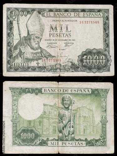 Fotografía  Billete de 1000 pesetas