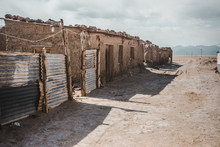 Small Ramshackle Houses In A S...