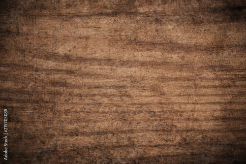 Tuinposter Hout Old grunge dark textured wooden background,The surface of the old brown wood texture,top view brown wood panelitng