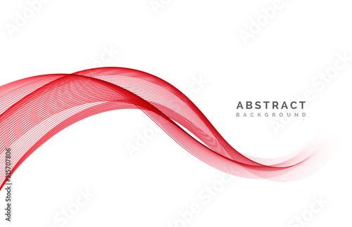 Fotografie, Obraz  Abstract vector background, wavy