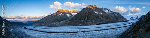Panoramic view of Aletsch glacier