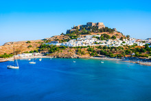 Lindos Acropolis And Beach, Rh...