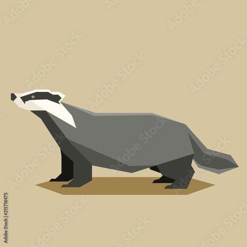 Fotomural Flat geometric Badger