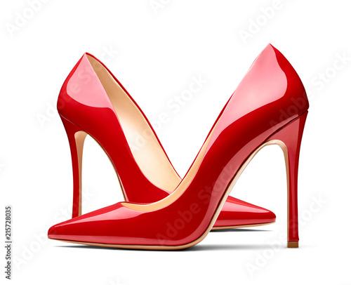 red high heel footwear fashion female style Canvas-taulu