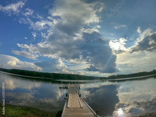 Spoed Foto op Canvas Zee zonsondergang dock, pier, beach, water, ocean, pond, river