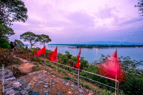 Fotobehang Purper Chanthaburi:Phairi Phinat Fort area, overlooking Laem Singh Beach, the atmosphere is natural, Thailand