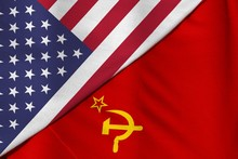 The Cold War. Flag Of The Sovi...
