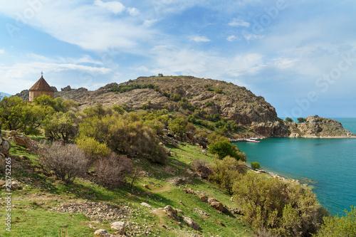 Tuinposter Eiland Akdamar Island in Van Lake. Turkey