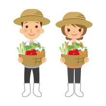 職業 農家 男女