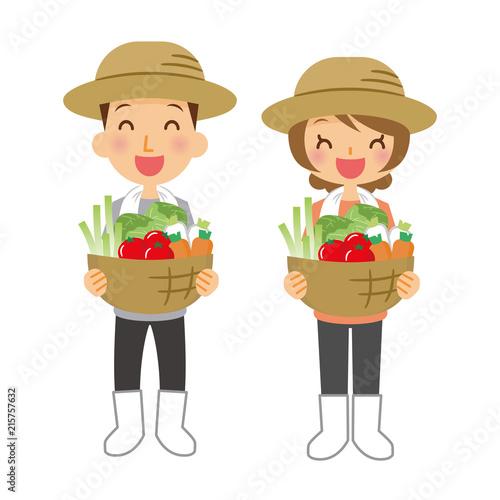 Foto  職業 農家 男女