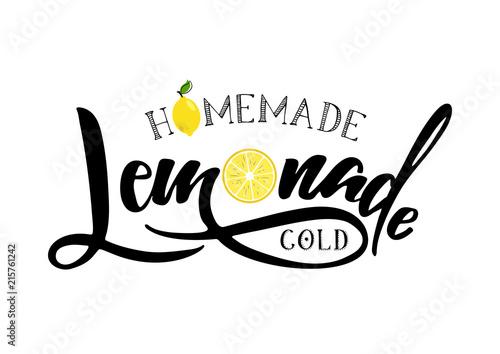 Photo lemonade lettering sign