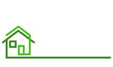 Real Estate Logo, Green House ...