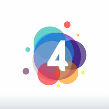 Colorful Number Four Logo Temp...