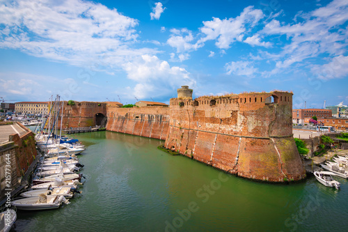 Carta da parati Old fortress of Livorno, Tuscany, Italy