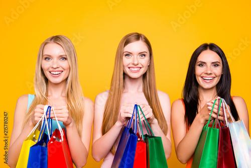 Fototapeta Boutique center mall showroom package commerce black friday concept