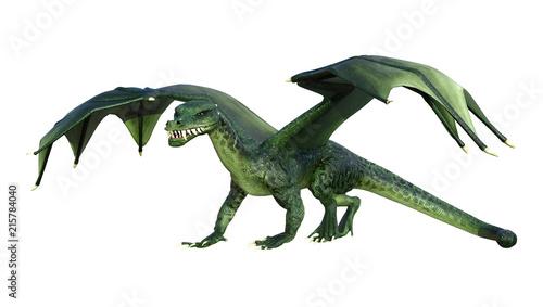 Canvas Prints Dragons 3D Rendering Fantasy Dragon on White