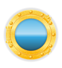 Ship Window Porthole Stock Vec...