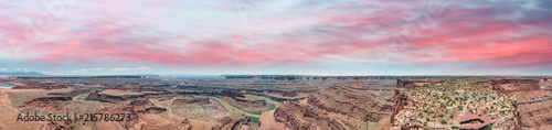 Keuken foto achterwand Centraal-Amerika Landen Dead Horse Point aerial view, Utah. Colorado river across mountains