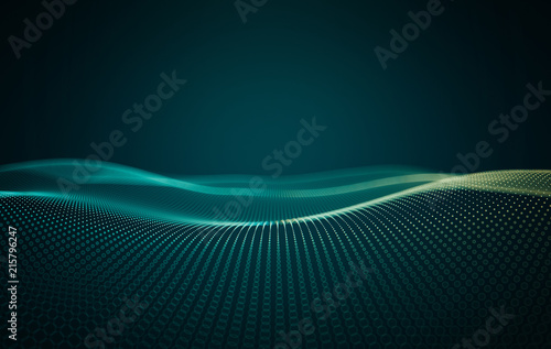 Foto op Aluminium Abstract wave Abstract technology background