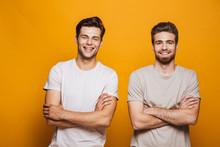 Portrait Of A Two Happy Young Men Best Friends