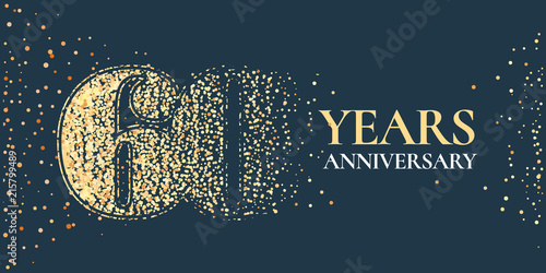 Fotografia  60 years anniversary celebration vector icon, logo