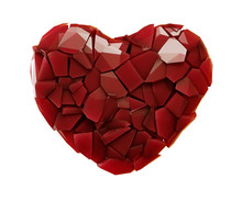 Heart Made Of Plastic Shards R...