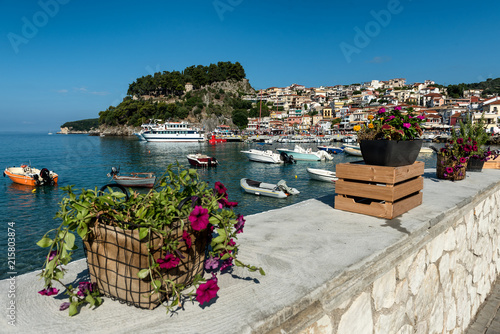 Walkway Promenade At Parga Coastal Greek Town At Ionian Sea