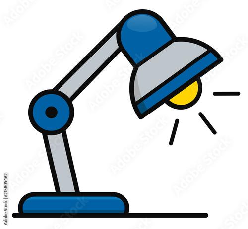 Vector desk lamp icon design Canvas Print
