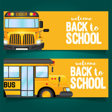 Back To School Bus Yellow Card