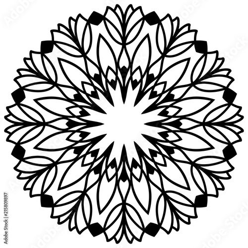 Laser cutting flower. Vector mandala for coloring book ...