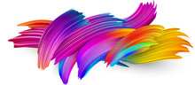Colorful Abstract Brush Stroke...