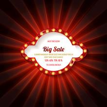 Retro Sign With Lamp Biggest Sale
