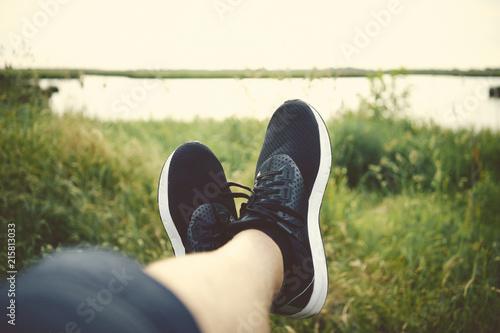 Foto Beine hochlegn