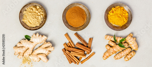 Stampa su Tela Ginger, turmeric and cinnamon