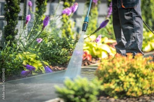 Power Washing Garden Paths