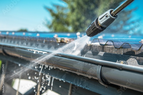 Rain Gutters Pressure Cleaning