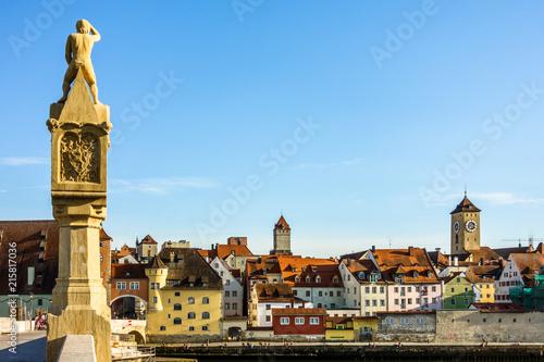In de dag Historisch mon. old town regensburg - bavaria