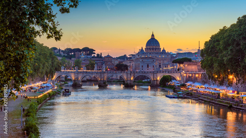 Canvas Saint peters basilica vatican italy