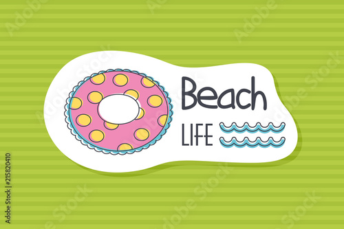 Summer poster card. Beach life © nasik