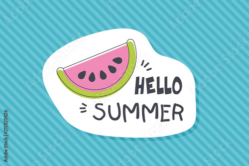 Summer poster card. Hello summer © nasik
