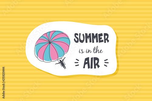 Summer poster card. Summer is in tre air © nasik