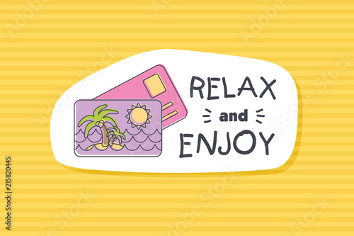 Summer poster card. Relax and enjoy © nasik