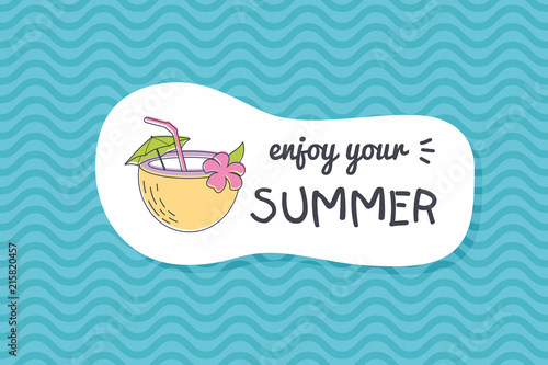 Summer poster card. Enjoy your summer © nasik