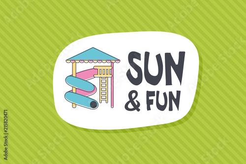Summer poster card. Sun and fun © nasik