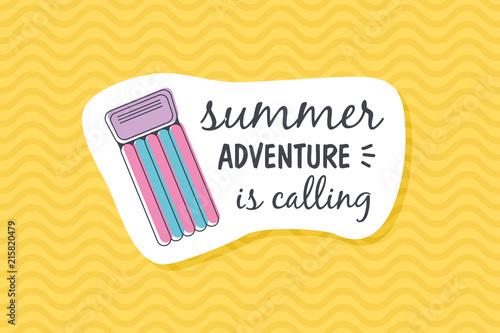 Summer poster card. Summer adventure is calling © nasik