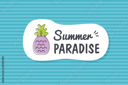 Summer poster card. Summer paradise © nasik