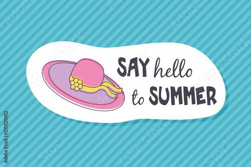 Summer poster card. Say hello to summer © nasik