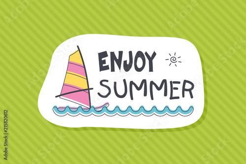 Summer poster card. Enjoy summer © nasik