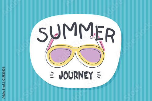 Summer poster card. Summer journey © nasik