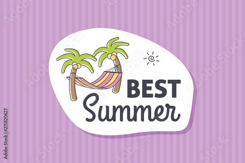 Summer poster card. Best summer © nasik